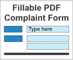 Fillable PDF Complaint Form Icon