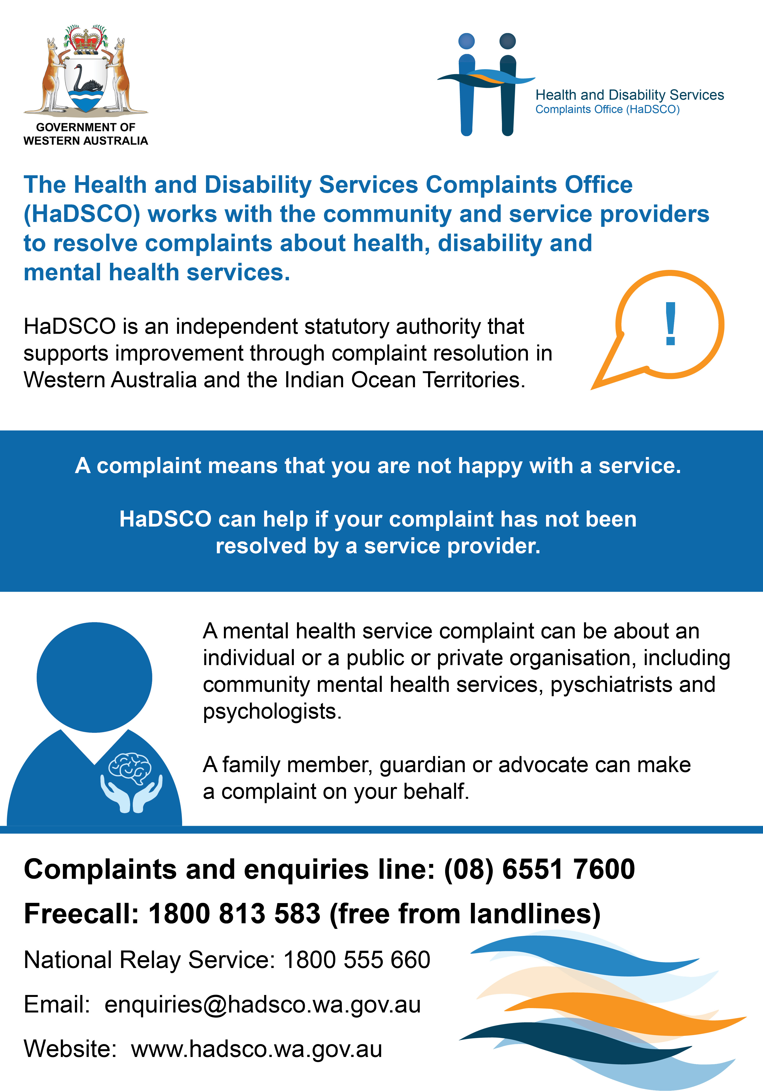 HaDSCO Mental Health Week Advertisement