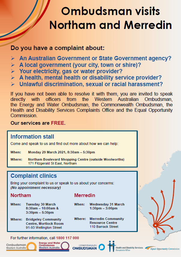 Northam and Merredin Complaint Clinic Poster